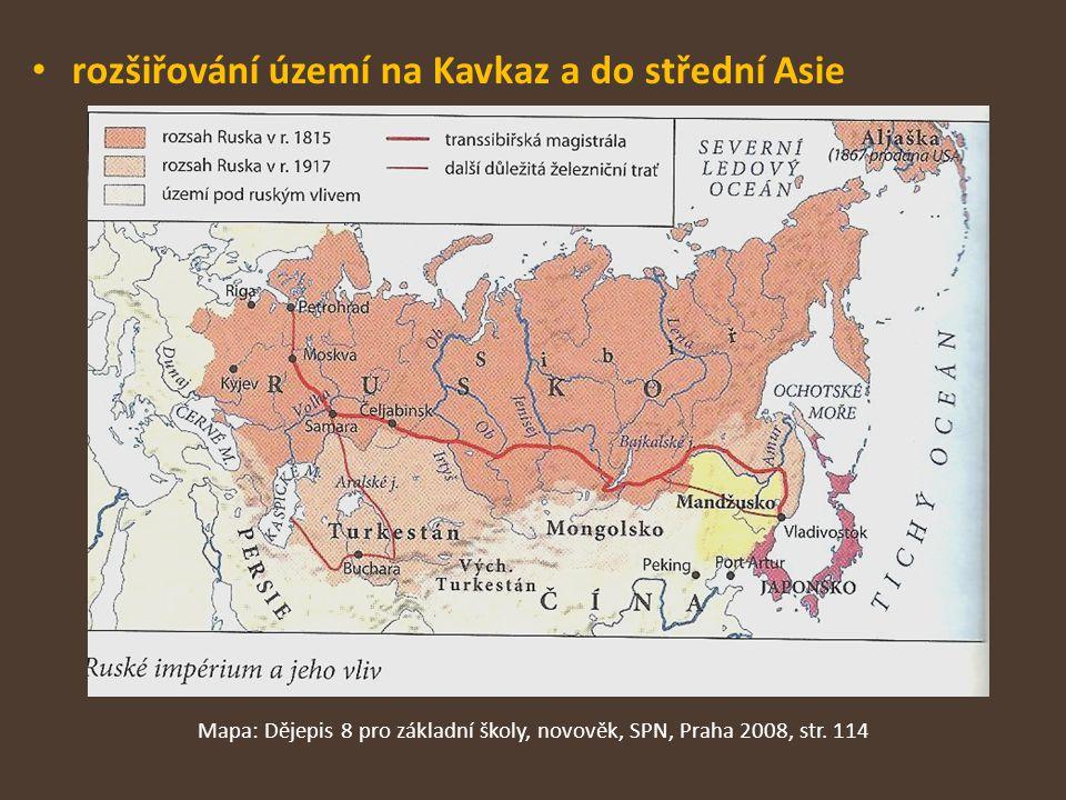 Mapa: Dějepis 8 pro základní školy, novověk, SPN, Praha 2008, str. 114