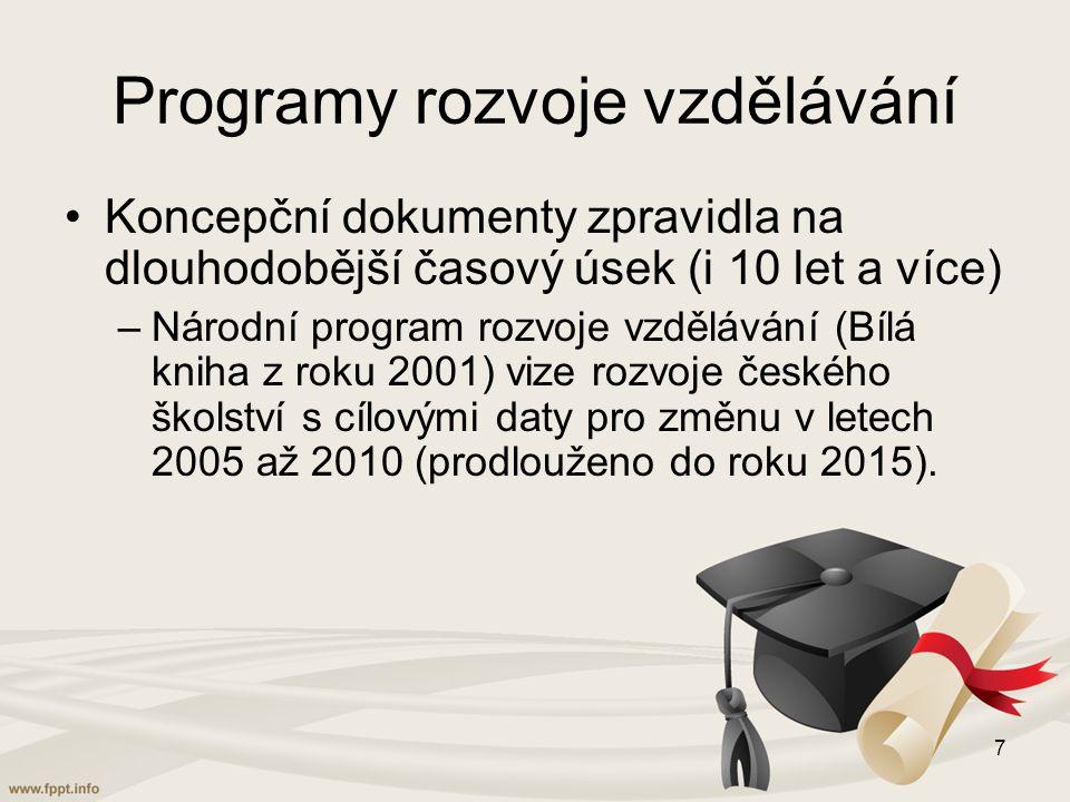 Programy rozvoje vzdělávání