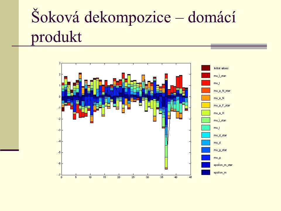Šoková dekompozice – domácí produkt