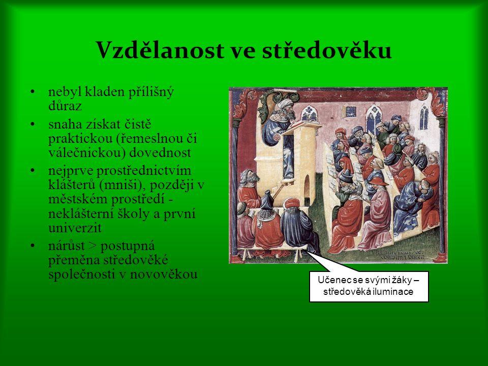Vzdělanost ve středověku