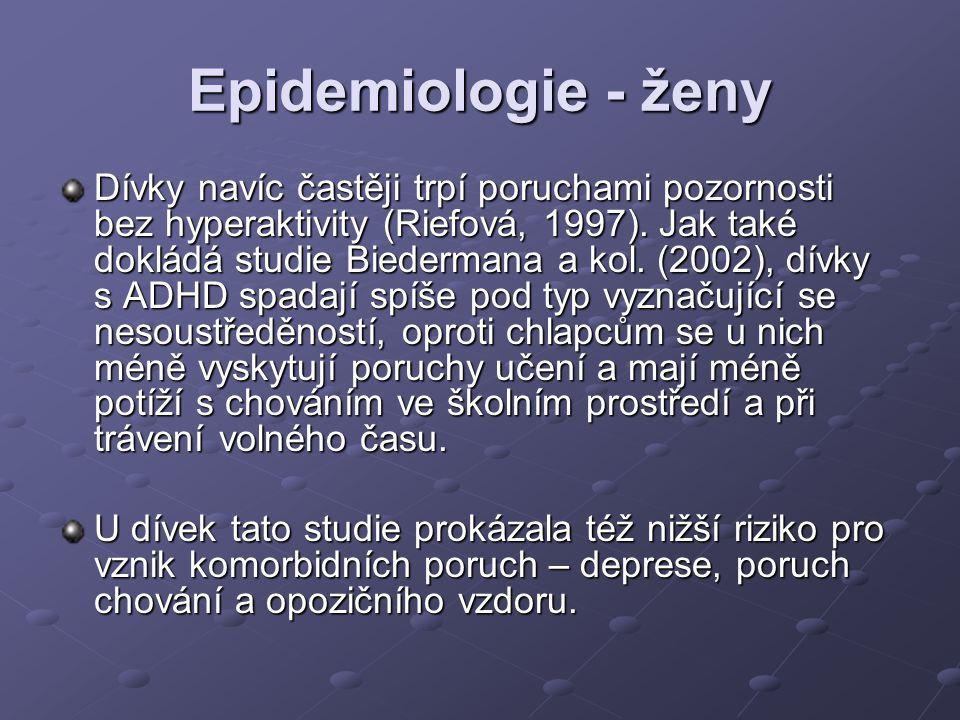 Epidemiologie - ženy