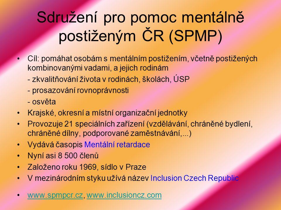 Sdružení pro pomoc mentálně postiženým ČR (SPMP)