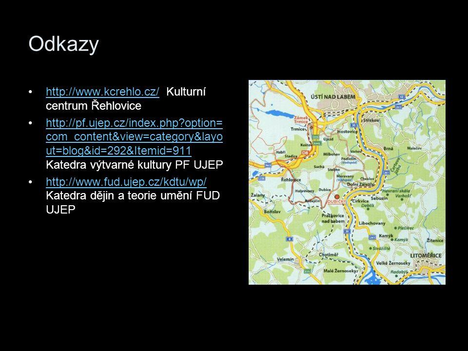 Odkazy http://www.kcrehlo.cz/ Kulturní centrum Řehlovice