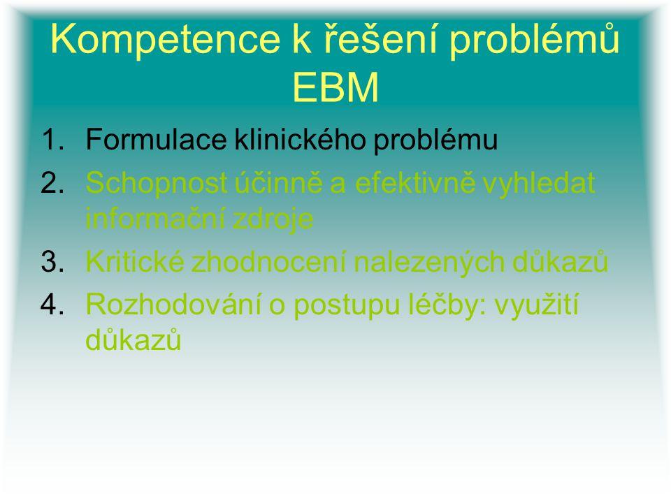 Kompetence k řešení problémů EBM