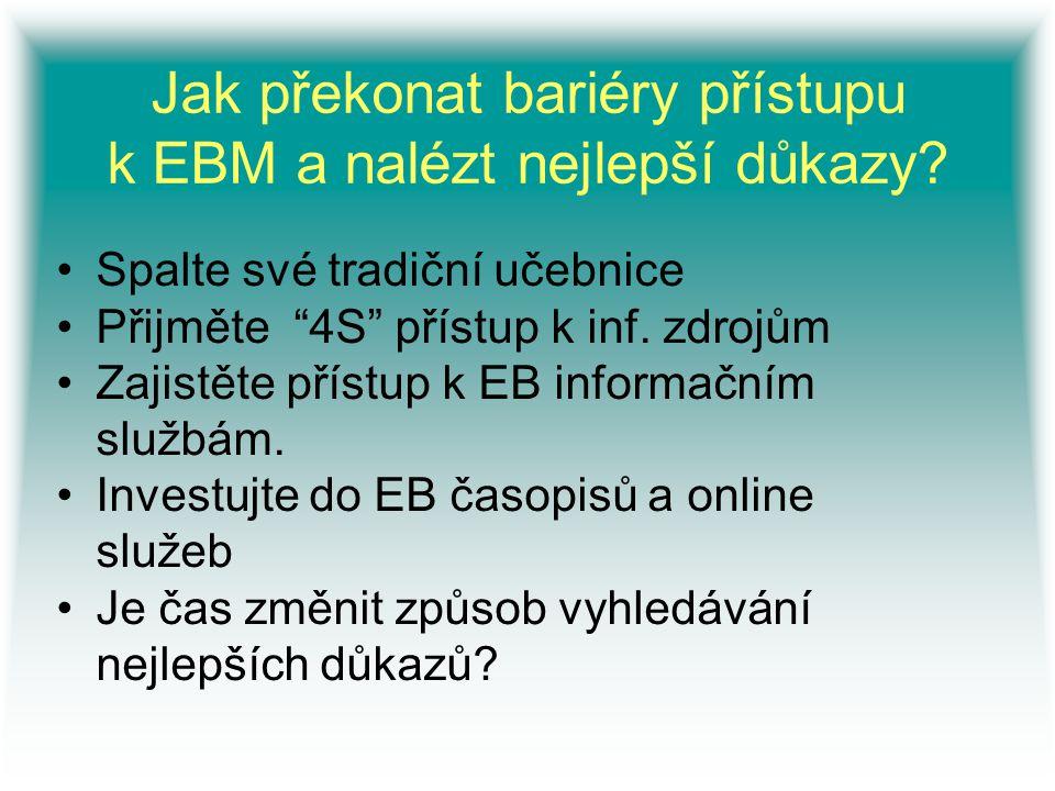 Jak překonat bariéry přístupu k EBM a nalézt nejlepší důkazy