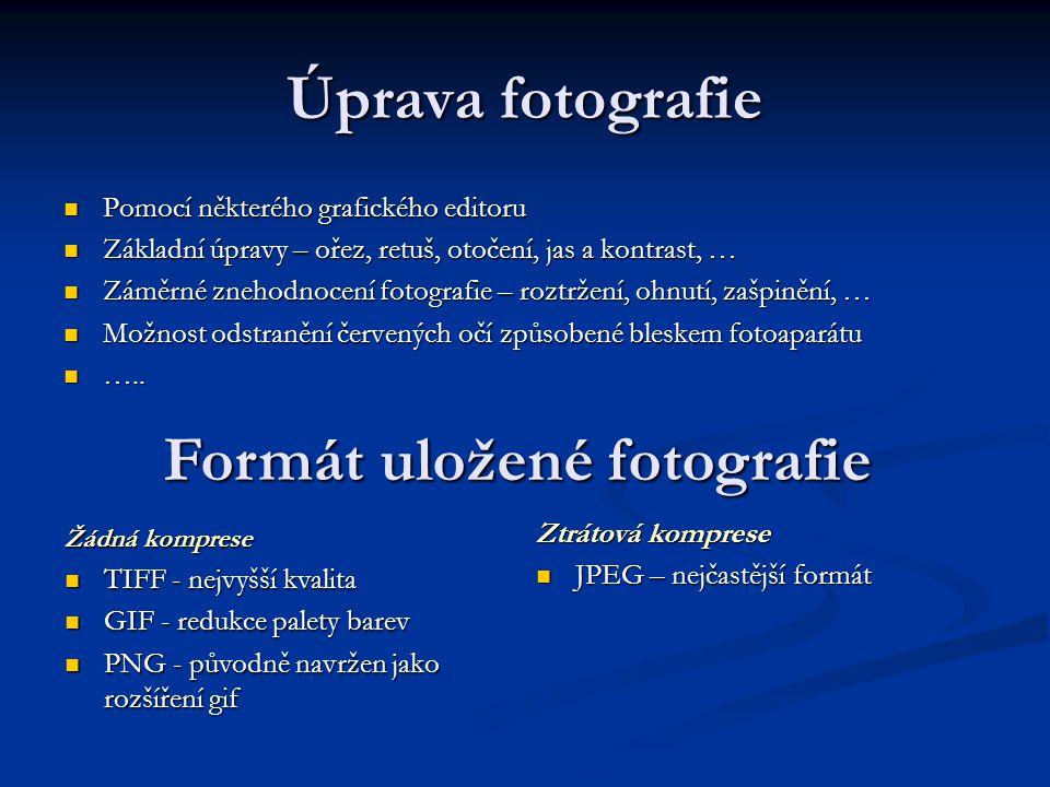 Formát uložené fotografie