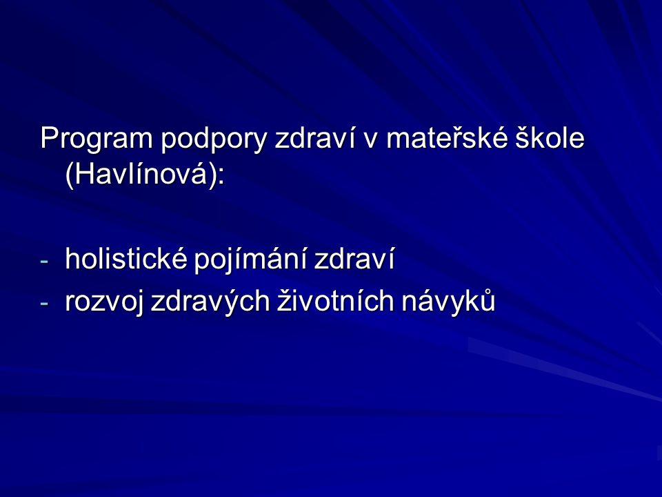 Program podpory zdraví v mateřské škole (Havlínová):