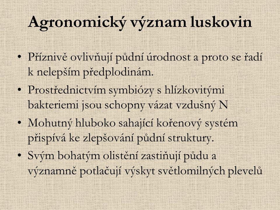 Agronomický význam luskovin