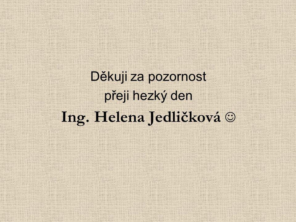 Ing. Helena Jedličková 