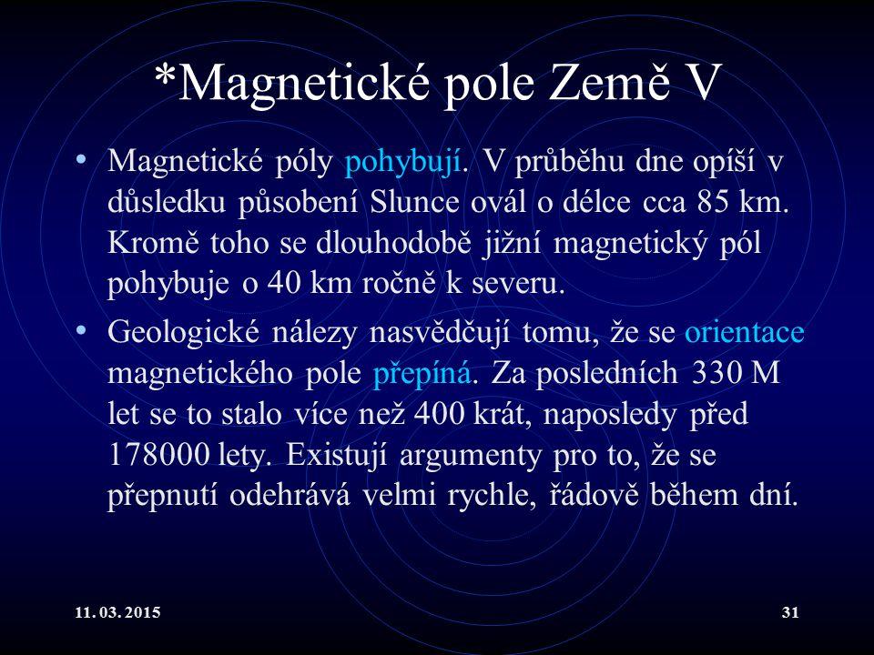 *Magnetické pole Země V