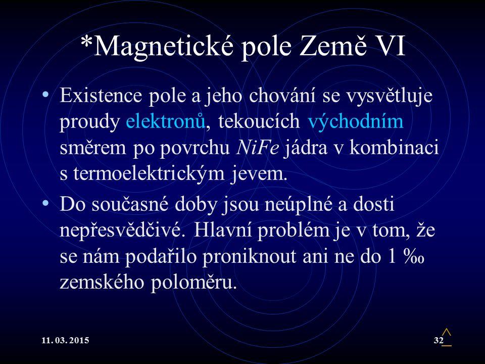 *Magnetické pole Země VI