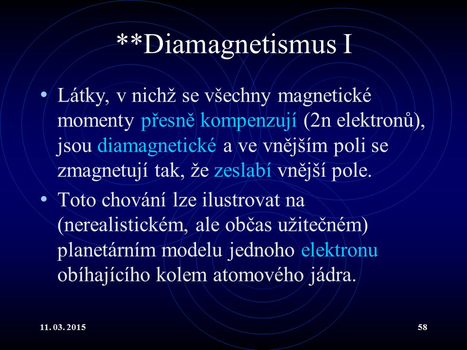 **Diamagnetismus I