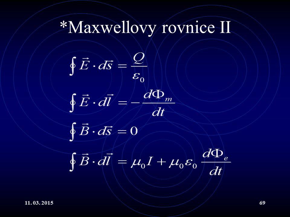 *Maxwellovy rovnice II