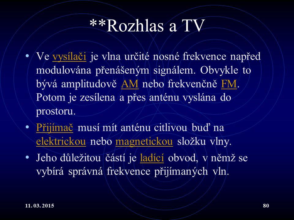 **Rozhlas a TV