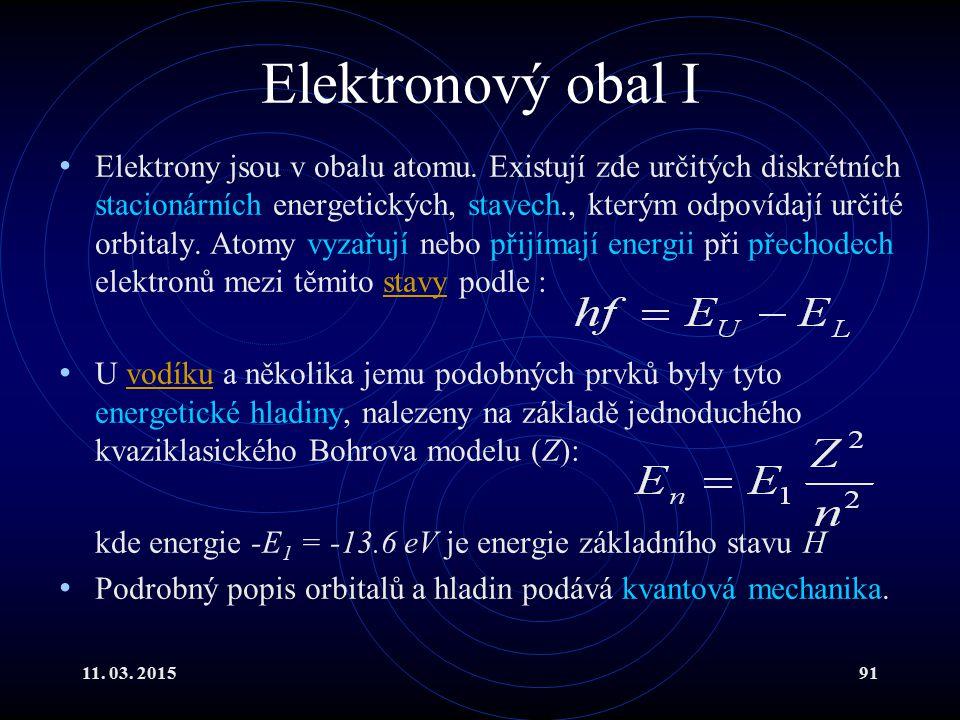 Elektronový obal I