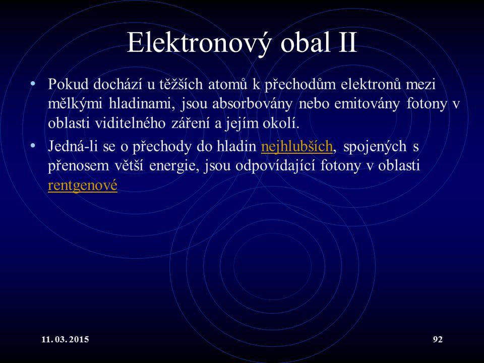 Elektronový obal II
