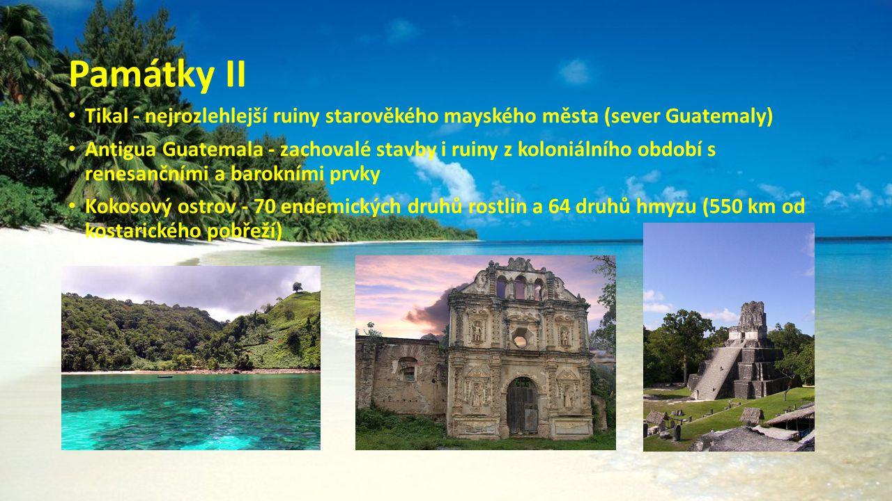 Památky II Tikal - nejrozlehlejší ruiny starověkého mayského města (sever Guatemaly)