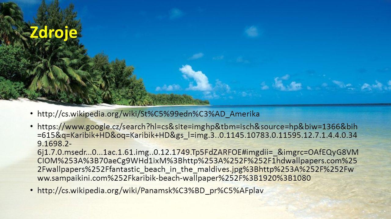 Zdroje http://cs.wikipedia.org/wiki/St%C5%99edn%C3%AD_Amerika
