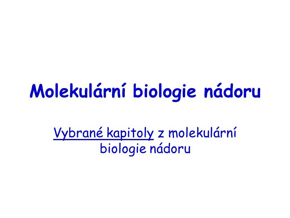Molekulární biologie nádoru