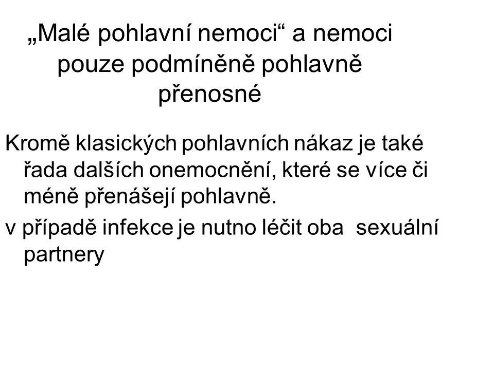 """""""Malé pohlavní nemoci a nemoci pouze podmíněně pohlavně přenosné"""