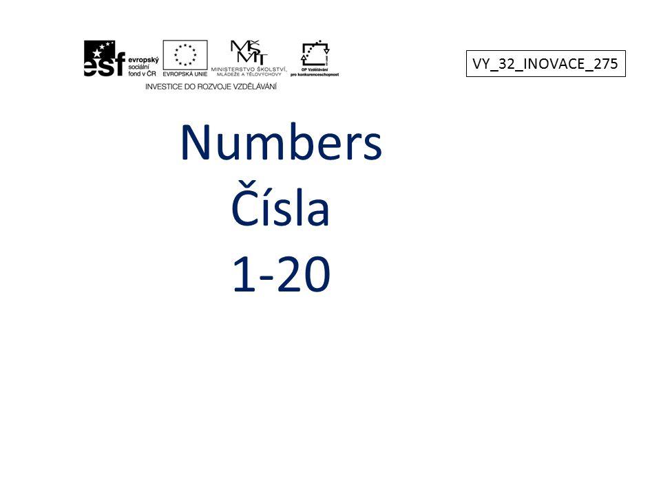 VY_32_INOVACE_275 Numbers Čísla 1-20