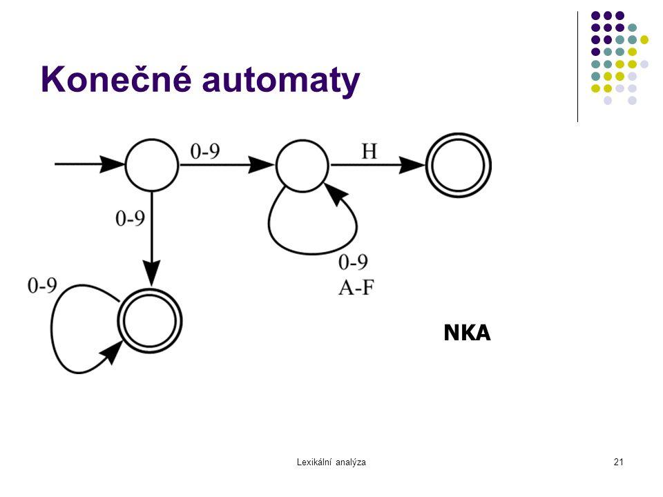 Konečné automaty NKA Lexikální analýza
