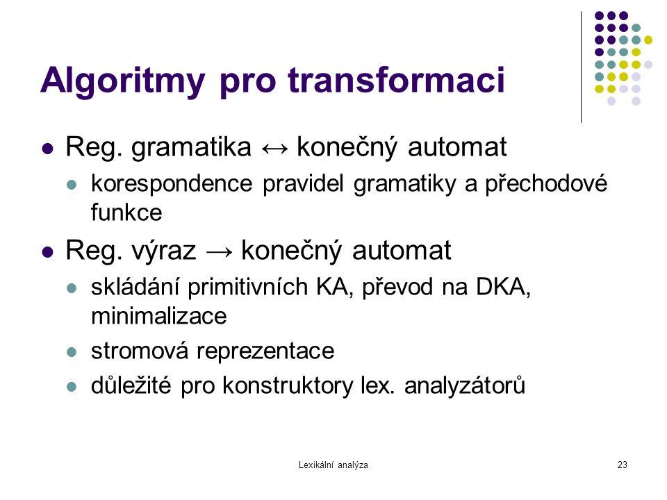 Algoritmy pro transformaci