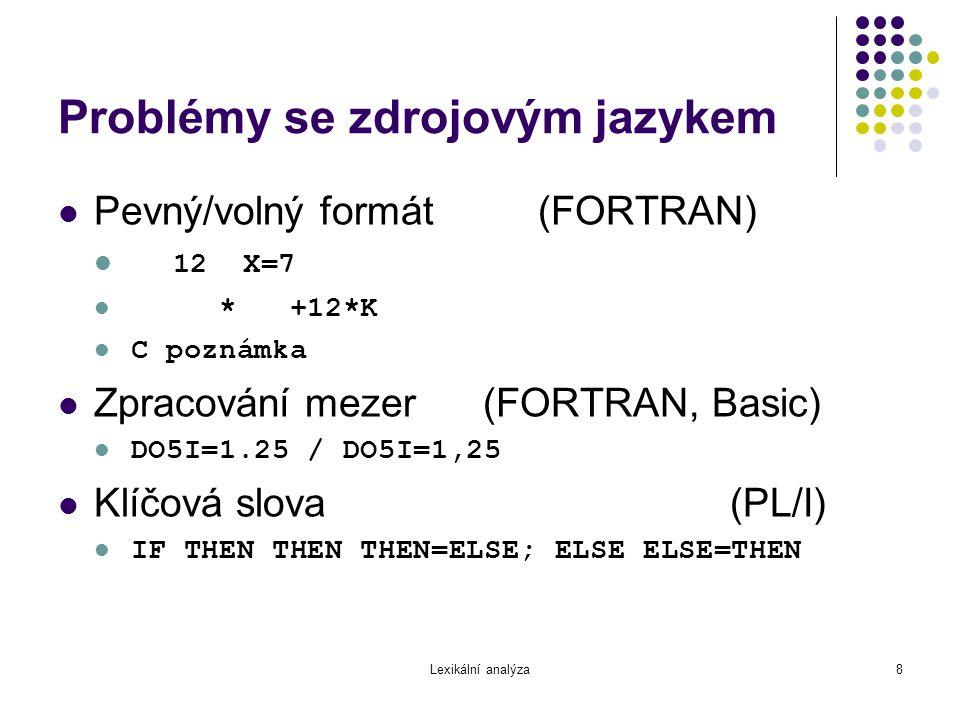 Problémy se zdrojovým jazykem