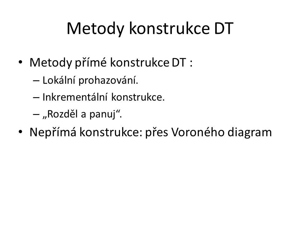 Metody konstrukce DT Metody přímé konstrukce DT :