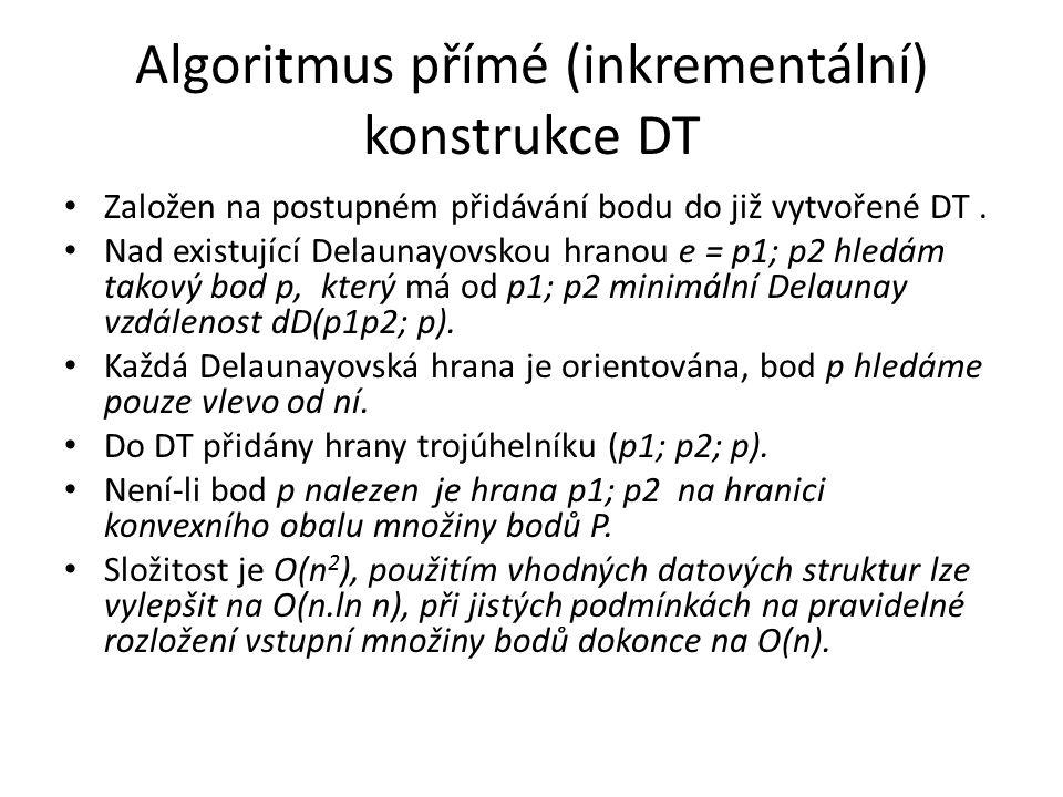Algoritmus přímé (inkrementální) konstrukce DT