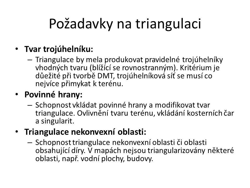 Požadavky na triangulaci