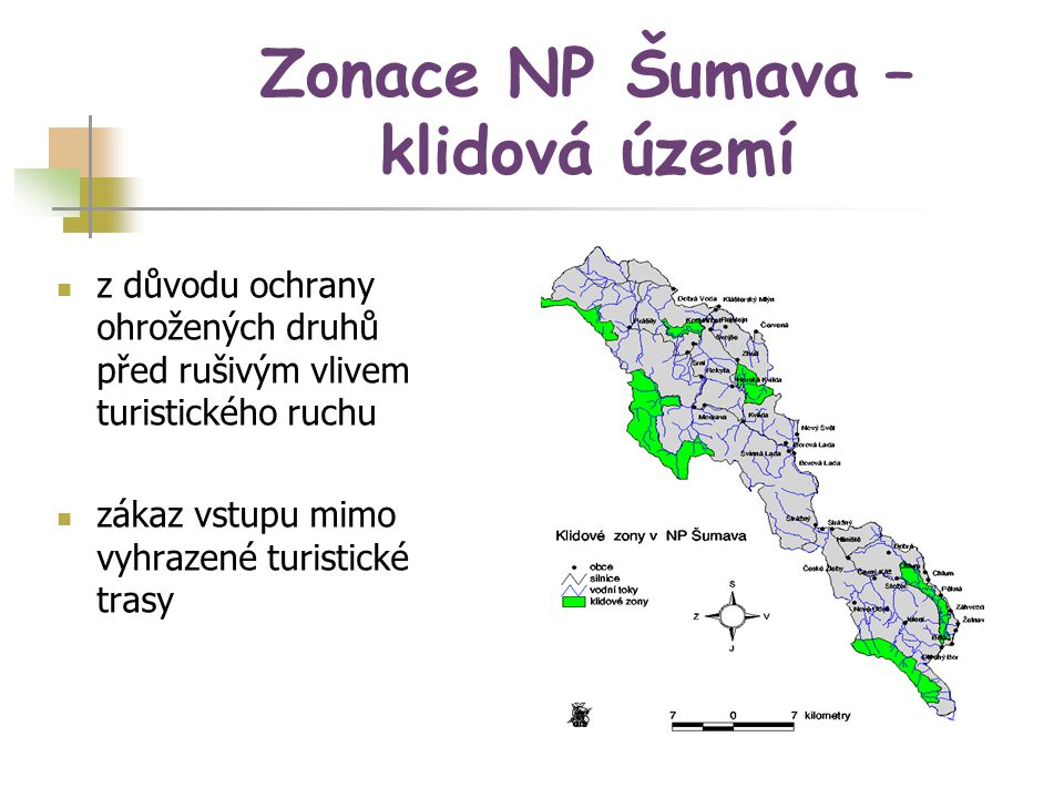 Zonace NP Šumava – klidová území
