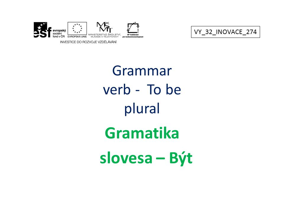 Grammar verb - To be plural