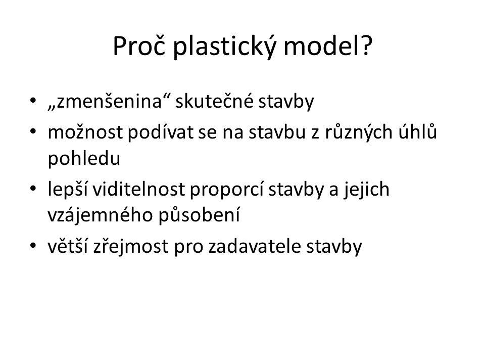 """Proč plastický model """"zmenšenina skutečné stavby"""