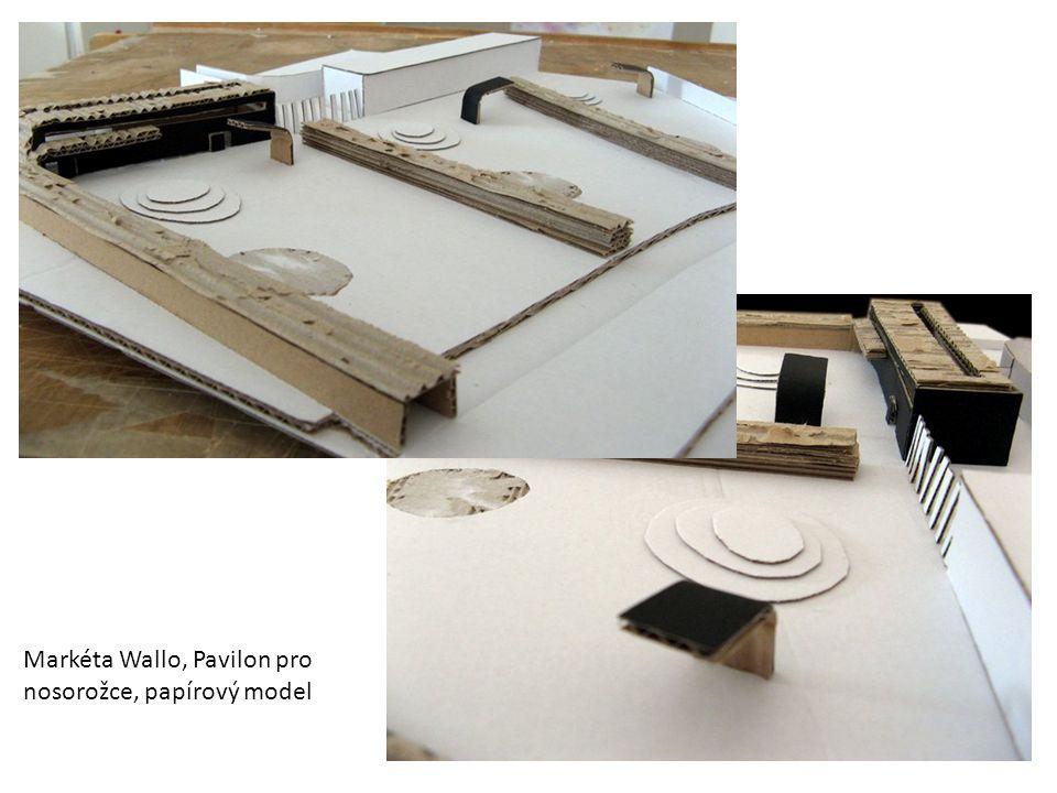 Markéta Wallo, Pavilon pro nosorožce, papírový model
