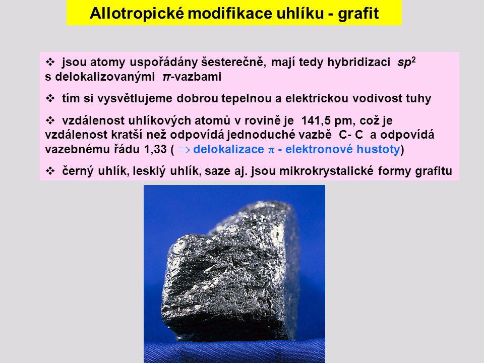 Allotropické modifikace uhlíku - grafit