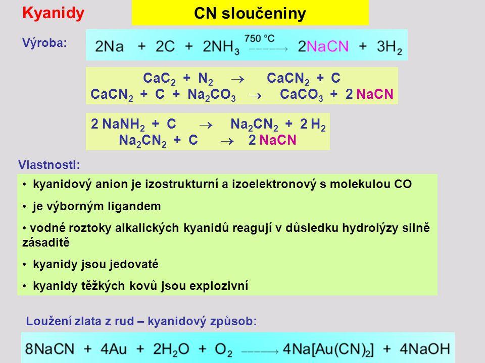 CaCN2 + C + Na2CO3  CaCO3 + 2 NaCN