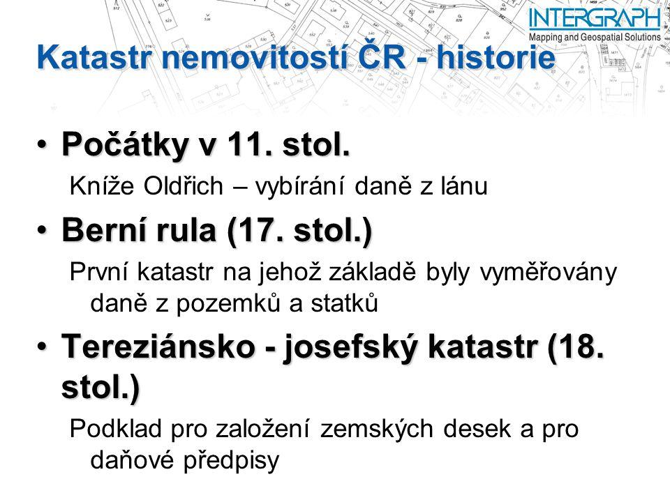 Katastr nemovitostí ČR - historie