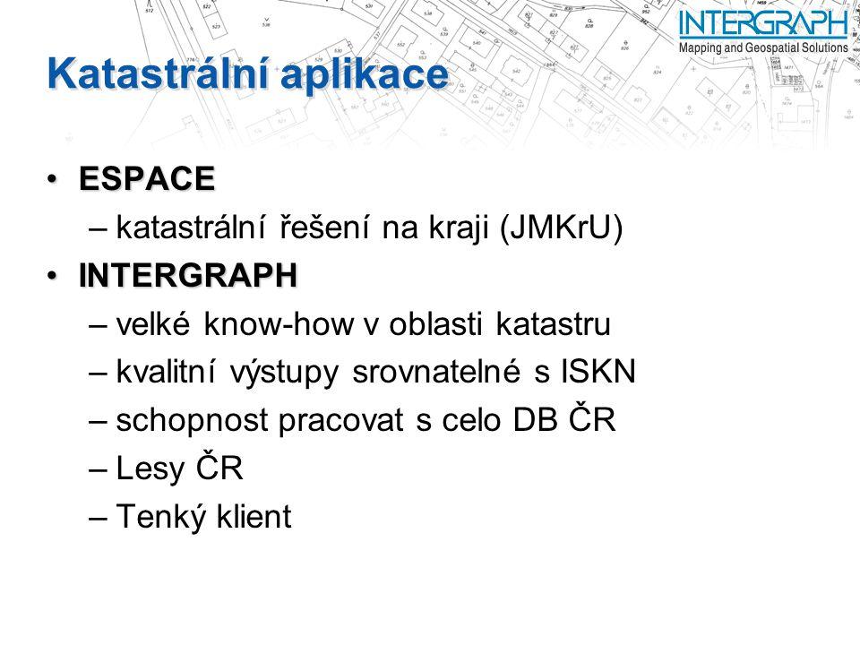 Katastrální aplikace ESPACE katastrální řešení na kraji (JMKrU)