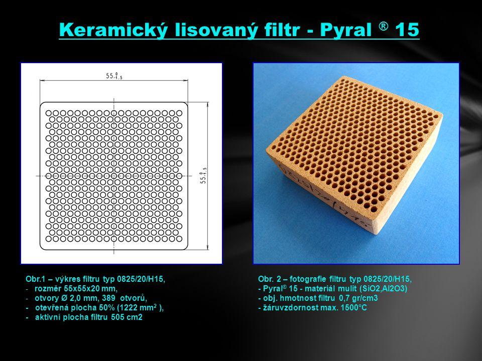 Keramický lisovaný filtr - Pyral ® 15