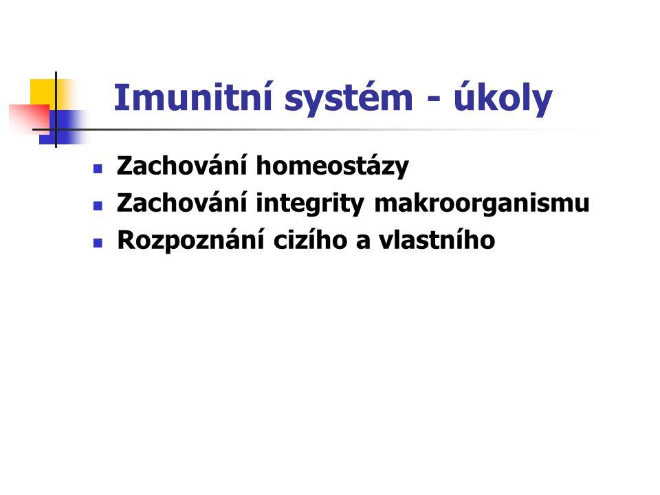 Imunitní systém - úkoly