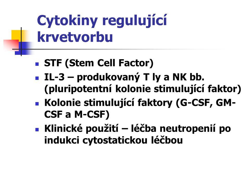 Cytokiny regulující krvetvorbu