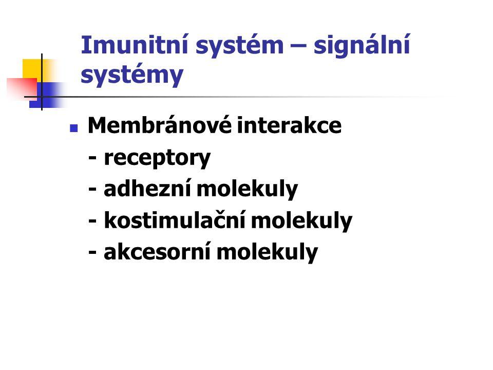 Imunitní systém – signální systémy