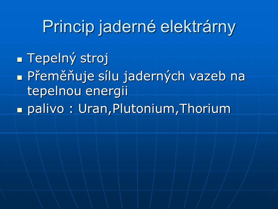 Princip jaderné elektrárny