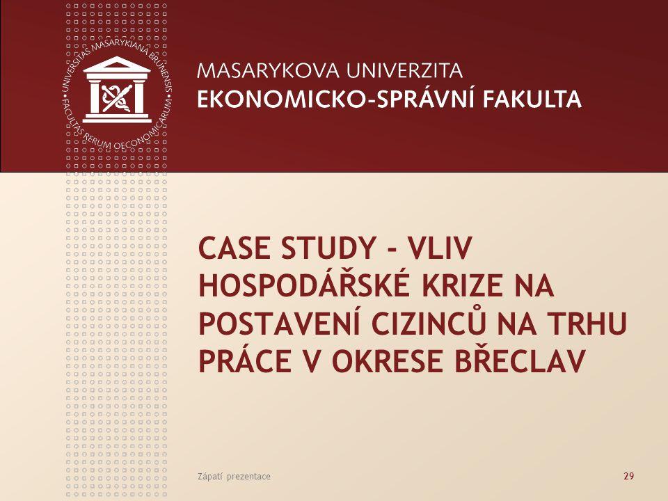Case study - Vliv hospodářské krize na postavení cizinců na trhu práce v okrese Břeclav