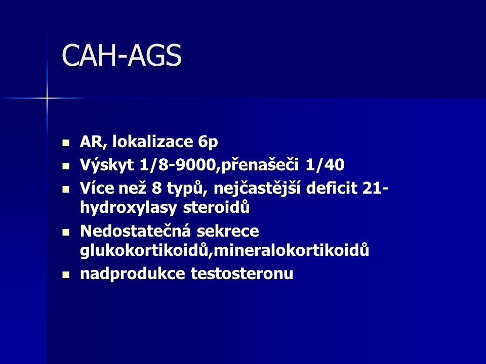 CAH-AGS AR, lokalizace 6p Výskyt 1/8-9000,přenašeči 1/40
