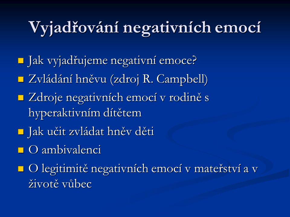Vyjadřování negativních emocí