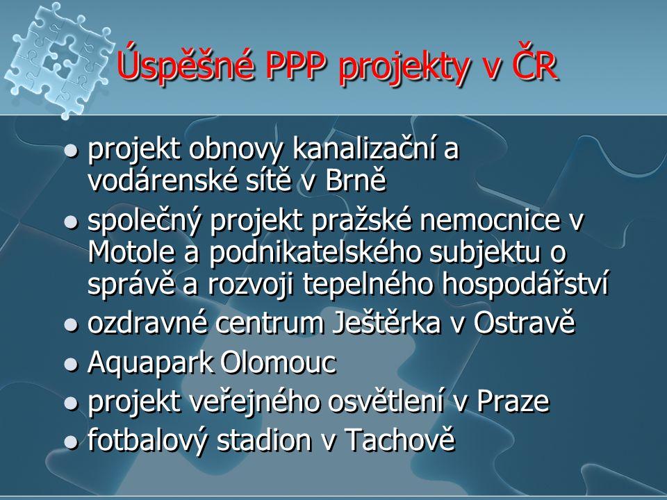 Úspěšné PPP projekty v ČR