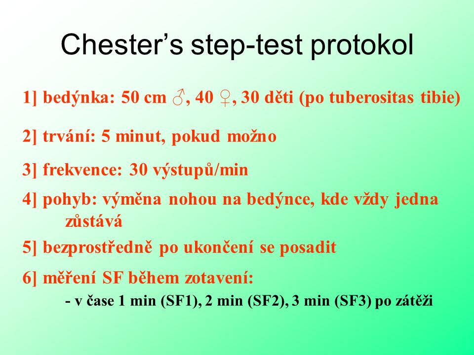 Chester's step-test protokol