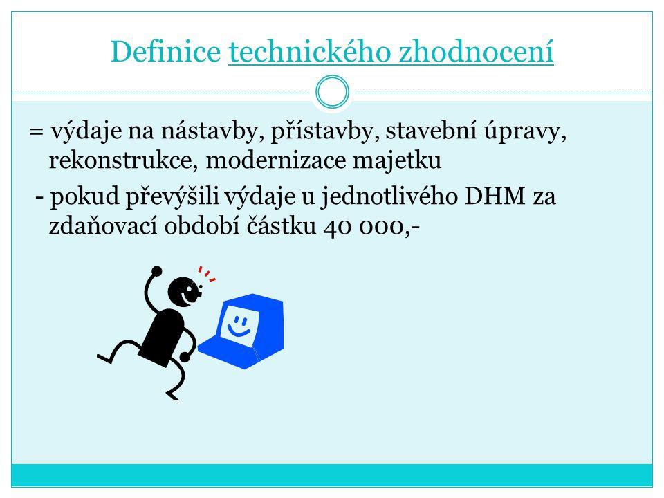 Definice technického zhodnocení